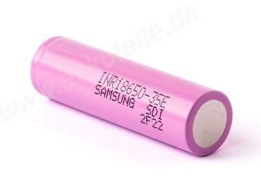 Samsung INR18650-35E 3,6V - 3,7V 3500mAh (Pluspol flach) – Bild 2