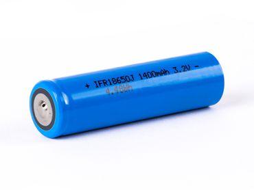 IFR 18650 1400mAh 3,2V LiFePo4 Lithium-Eisenphosphat (Pluspol erhöht) – Bild 1