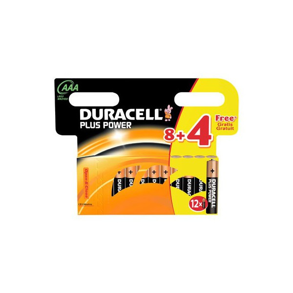 duracell plus power aaa lr3 mn2400 12 st ck batterien aaa micro. Black Bedroom Furniture Sets. Home Design Ideas