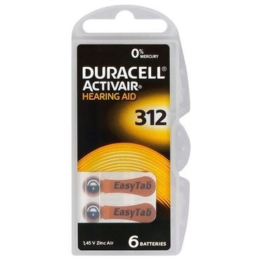 duracell activair h rger te batterien hg0 model 312 batterien weitere gr en. Black Bedroom Furniture Sets. Home Design Ideas