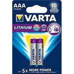 Varta Lithium-Batterie AAA - Micro FR10G445 - LR03 - 2er Pack