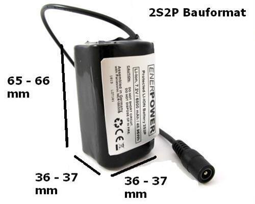 enerpower 2s2p 6200mah 7 2v 7 4v li ion ersatzakkupack mobile energie akkupack. Black Bedroom Furniture Sets. Home Design Ideas