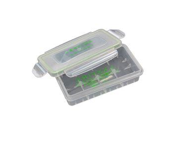 Wasserdichte Plastikbox für 2x 18650 oder 4x 18350 Akkus transparent – Bild 1
