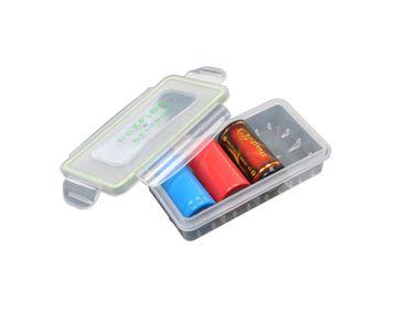 Wasserdichte Plastikbox für 2x 18650 oder 4x 18350 Akkus transparent – Bild 2
