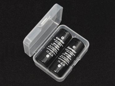 Plastikbox Keeppower D2 für 2x 18500 oder 2x 18350 transparent – Bild 4
