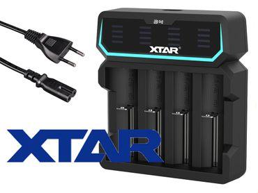 Xtar D4 – Vier-Schacht Ladegerät für Lithium Ionen Akkus mit integriertem Netzteil – Bild 1