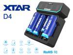 Xtar D4 – Vier-Schacht Ladegerät für Lithium Ionen Akkus mit integriertem Netzteil – Bild 2