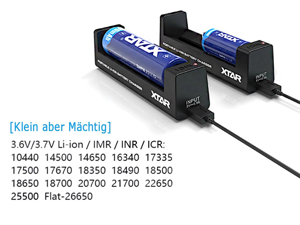 Xtar MC1 Akku Ladegerät mit Micro USB Kabel | Dampferakkus