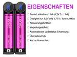 Efest SLIM K2 2-Schacht Li-Ion-Akkuladegerät – Bild 3