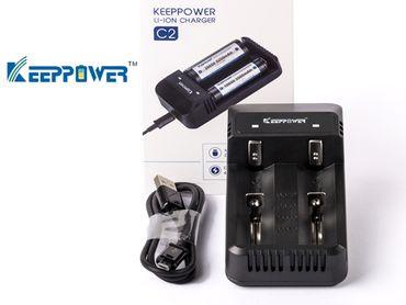 keeppower c2 ladeger t f r lithium ionen akkus ladeger te keeppower. Black Bedroom Furniture Sets. Home Design Ideas