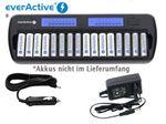 everActive NC-1600 Mikroprozessor-gesteuertes NIMH Ladegerät mit LCD-Display für 1-16 AA/AAA Akkus
