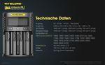 Nitecore UM4 - intelligentes Ladegerät für Li-Ion, LiFePo4, Ni-MH, Ni-CD Akkus – Bild 5