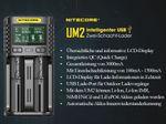 Nitecore UM2 - intelligentes 2 - Schacht USB Ladegerät für Li-Ion, LiFePo4, Ni-MH, Ni-CD Akkus