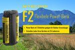 Nitecore F2 FlexBank Indoor/Outdoor-Ladegerät für Li-Ionen-Akkus