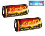 Trustfire 32650 6000mAh 3,6V - 3,7V geschützter Li-Ionen-Akku - 2 Stück