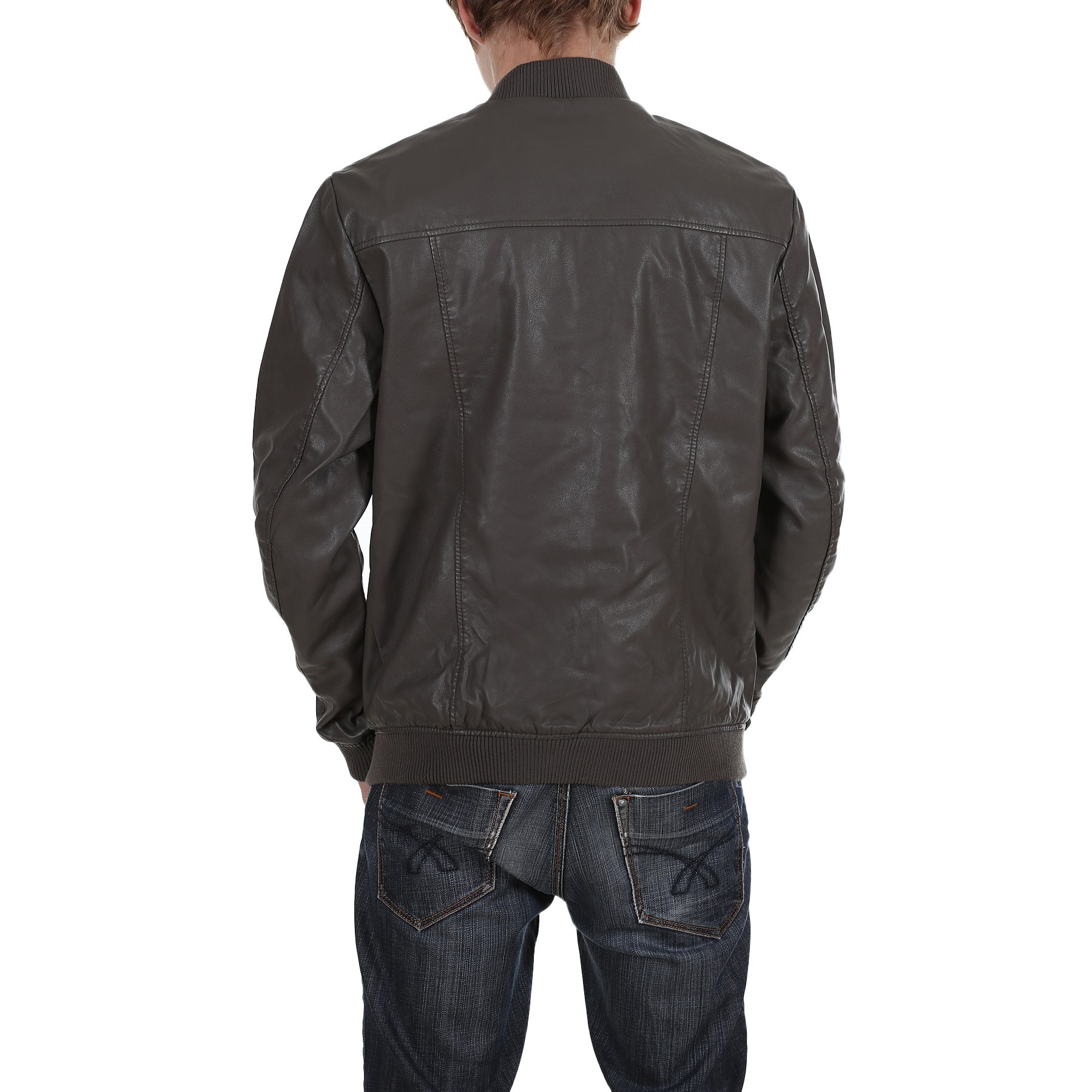 jack jones herren lederjacke m nnerjacke stone jacket. Black Bedroom Furniture Sets. Home Design Ideas