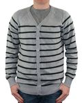 Jack & Jones Herren Strickjacke, Männerjacke Stripe Cardigan PB