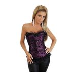 OhYeah edle Damen Corsage mit String 2723 black/purple 001