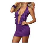 OhYeah Damen Negligee, sexy Negligee mit String 72915 purple