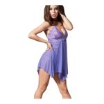 OhYeah sexy Damen Negligee mit String 7130 purple