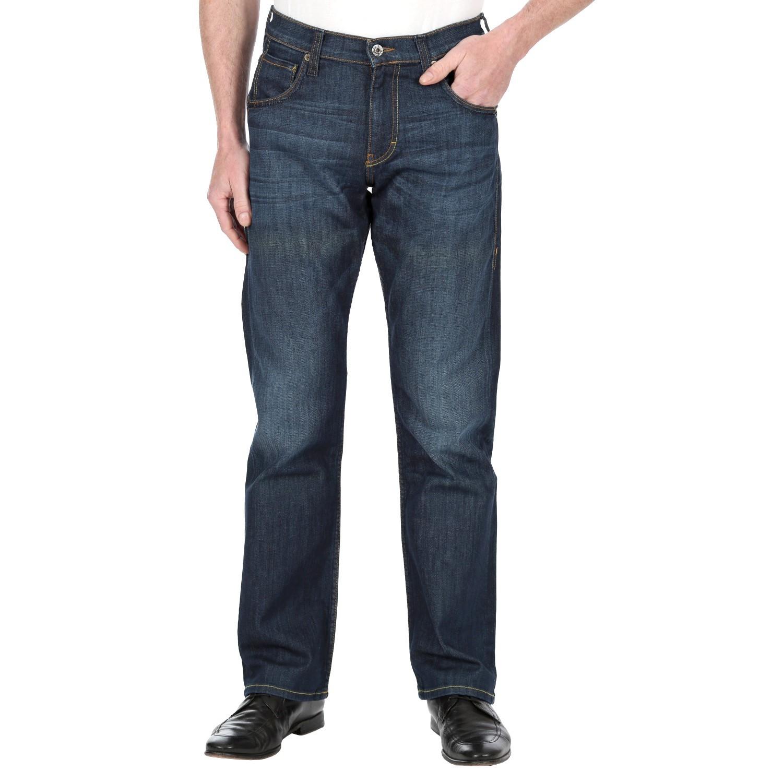 Mustang Herren Jeans, Männerjeans Hudson 3161 5201 593 dark rinse used Regular Fit, Straight Leg