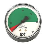 Manometer, Druckmessgerät mit Rohrfeder, Typ 111.12, NG63, G 1/4 hinten, 0-600 mbar, 0-0,6 bar