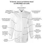 Wilvorst Herrenhemd, klassisches Hemd 470011/80 mit Haifischkragen, Regular Fit, Champagner 006