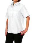 Petermann Damen-Bluse, Bussiness-Hemd, 60347 Wallstreet in langarm und kurzarm, bügelfrei  005