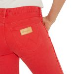 Wrangler Damen Jeans, Frauenjeans W229DM23K Cropped Straight Red 004