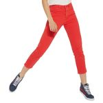 Wrangler Damen Jeans, Frauenjeans W229DM23K Cropped Straight Red, high waist