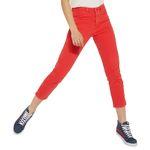 Wrangler Damen Jeans, Frauenjeans W229DM23K Cropped Straight Red