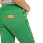 Wrangler Damen Jeans, Frauenjeans W229DM121 Cropped Straight Green Bild 4