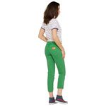 Wrangler Damen Jeans, Frauenjeans W229DM121 Cropped Straight Green Bild 3