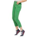 Wrangler Damen Jeans, Frauenjeans W229DM121 Cropped Straight Green