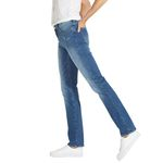 Wrangler Damen Jeans, Frauenjeans W27GLU86J High Rise Slim Damage Blue Bild 2