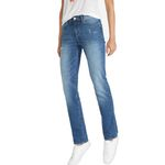 Wrangler Damen Jeans, Frauenjeans W27GLU86J High Rise Slim Damage Blue