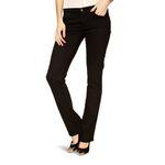 Wrangler Damen Jeans, Frauenjeans W24SCK81H Drew Straight Perfekt Black