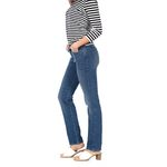 Wrangler Damen Jeans, Frauenjeans W27GKY93B High Rise Slim Real Blue Bild 2