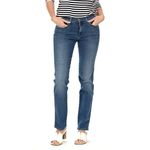 Wrangler Damen Jeans, Frauenjeans W27GKY93B High Rise Slim Real Blue