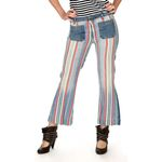 Wrangler Damen Jeans, Frauenjeans W2308799Y Cropped Flare Disco Stripes