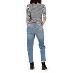Wrangler Damen Jeans, Frauenjeans W2297095Y Cropped Straight Blue Jean Baby 003