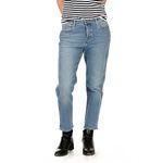 Wrangler Damen Jeans, Frauenjeans W2297095Y Cropped Straight Blue Jean Baby, high waist