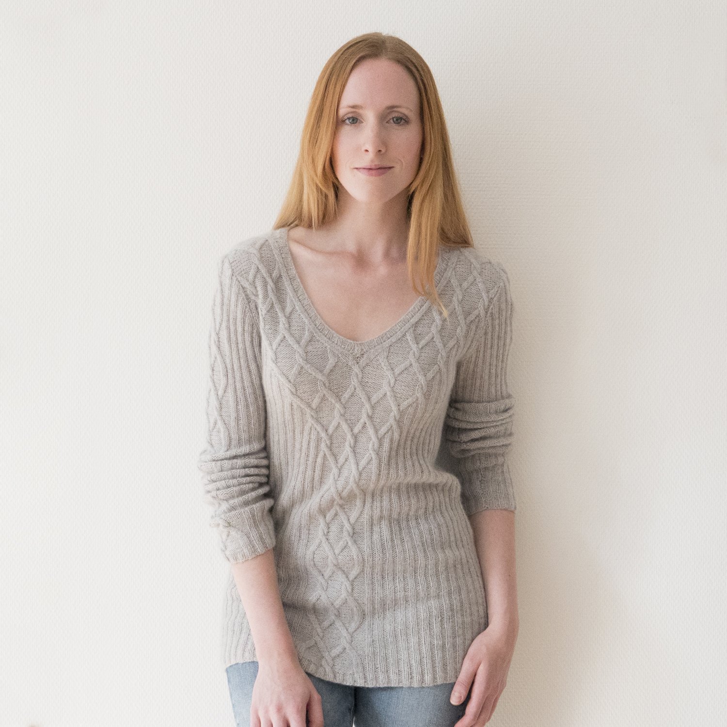 Kit Sweater Rapunzel Knitted With Cashmere Lace Pascuali Yarn