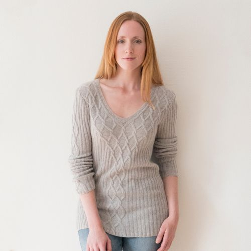 "Kit | sweater ""Rapunzel"" knitted with Cashmere Lace 001"
