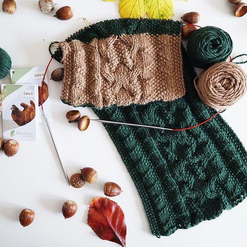 Wollpaket Schal Forest Pearl | Schal aus Kamelwolle