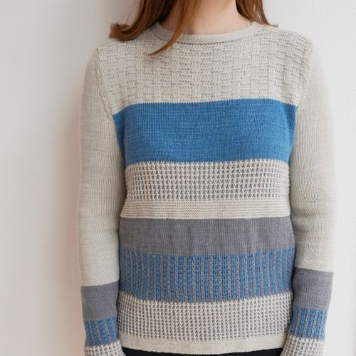 Wollpaket | Pullover German Sky aus Pascuali Saffira (75% Wolle, 25% Seide)