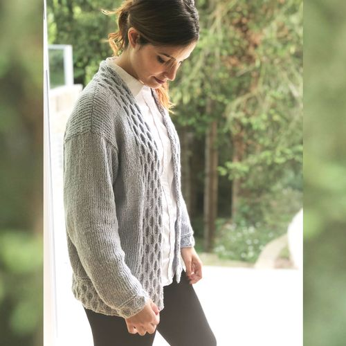 Pattern | Cardigan Nube made with Suave Cotton 001