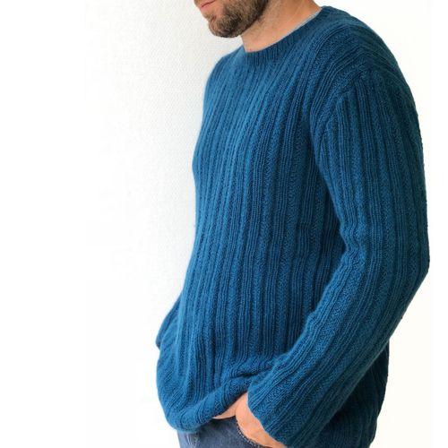 Strickanleitung   Herrenpullover Oceano aus Kaschmir Wolle