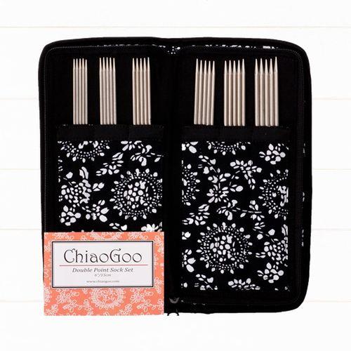 ChiaoGoo Double Point Sock Set Nadelspielset aus Edelstahl 15 cm