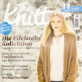 Strickheft The Knitter 28/2016 Cover: Pascuali Longjacke Dschamal und Reportage 001